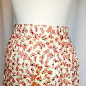 J. Crew XL 100% Cotton Mini Skirt Watermelon Desig